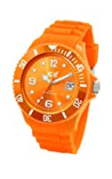 Ice Watch - Sioeus09 - Montre Mixte - Quartz Analogique - Cadran Orange - Bracelet Silicone Orange - Moyen Modle