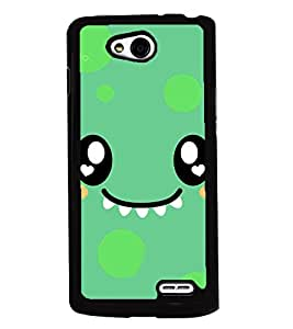 PRINTVISA Smily Cartoon Premium Metallic Insert Back Case Cover for LG L90 - D5887