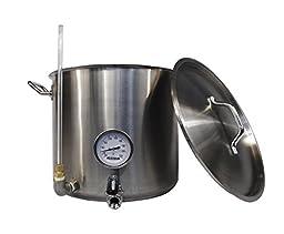 HomeBrewStuff 15 Gallon Kettle Hot Liquor Tank Heavy Duty Stainless Steel Beer Brewing