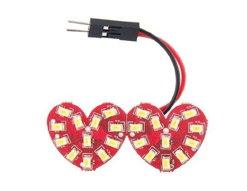Comple 24 Smd Dual Heart Shape White Light Led Bulb