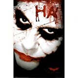 The Dark Knight Movie (The Joker, Face) Poster Print