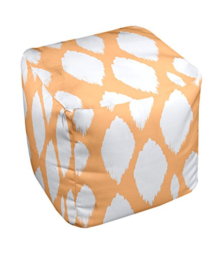 E by design FG-N15-Pumpkin-13 Geometric Pouf