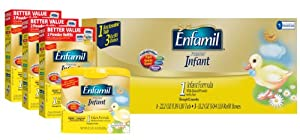 Enfamil Infant Formula Milk-Based with Iron, Combo Pack, 121.8 Ounce