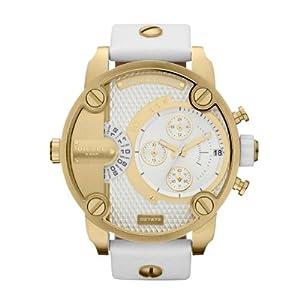 Diesel DZ7273 - Reloj cronógrafo de cuarzo para hombre con correa de piel, color blanco