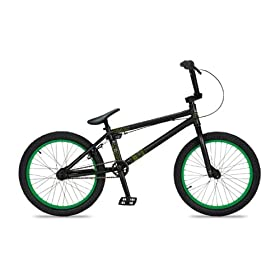 Dk Cygnus Bmx Bike With Green Rims (Black, 20-Inch) & FREE MINI TOOL BOX (fs): Everything Else