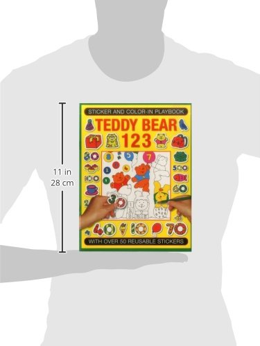 Sticker and Color-In Playbook: Teddy Bear 123: With Over 60 Reusable Stickers (Sticker & Colour in Playbook)
