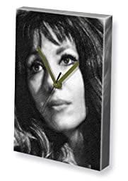 INGRID PITT - Canvas Clock (LARGE A3 - Signed by the Artist) #js004