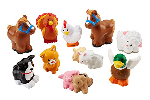 Fisher-Price Little People Farm Animal Friends with Baby Bunnies & Piglets