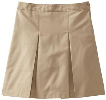 Classroom Big Girls'  Kick Pleat Skirt, Khaki, 7