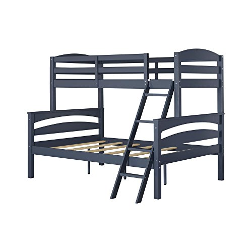 Dorel Living Brady Bunk Bed, Twin Over Full, Graphite Blue (Loft Beds Full compare prices)