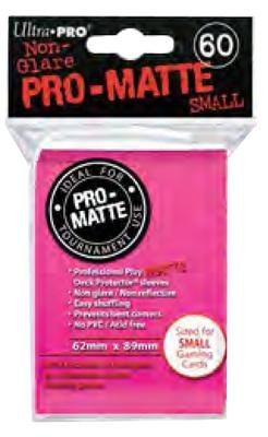 Ultra Pro Small Bright Pink Pro-Matte (60 sleeves) by Ultra Products - 1