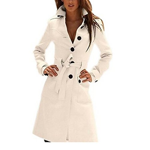Hee Grand Women's Autumn overcoat White Chinese M