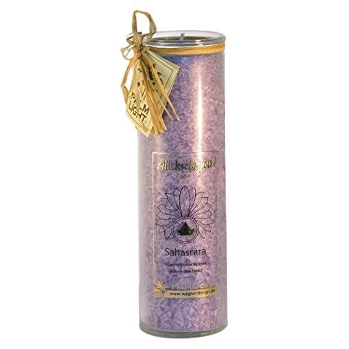 Palm-Light-4041678000813-chakra-Sahasrara-Hhe-circa-20-cm-Kerze-violett