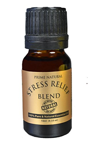Stress Relief Essential Oil Blend 10ml / 0.33oz - 100% Natural Pure and Undiluted Premium Quality for Aromatherapy , Scents & Diffuser - Depression , Anxiety Relief , Relaxation, Boost Mood