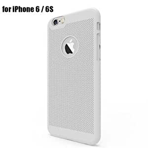 Breathable Protective Back Cover Case for iPhone 6 / 6S Soft PC Mobile Protector with Cooling Function - SILVER
