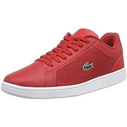 Lacoste ENDLINER 116 2 SPM, Herren Sneakers, Rot (RED 047), 42 EU (8 Herren UK)