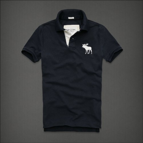 Abercrombie&Fitch アバクロンビー &フィッチ  アバクロ メンズ ポロシャツ Green Mountain (M, ネイビー)