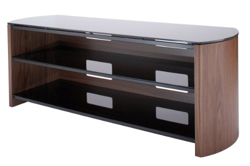 Walnut Real Wood Veneer TV Stand for screens up to 60 inch