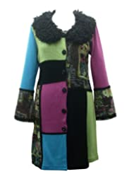 Patchwork Garden  Colorful Cardigan Multicoloured
