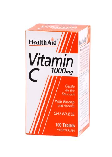 HealthAid Vitamin C 1000mg - Chewable - 100 Tablets
