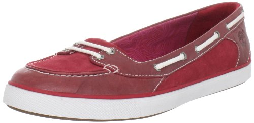 Timberland Women's Earthkeepers Deering Boat Shoe, Red, 9 M US