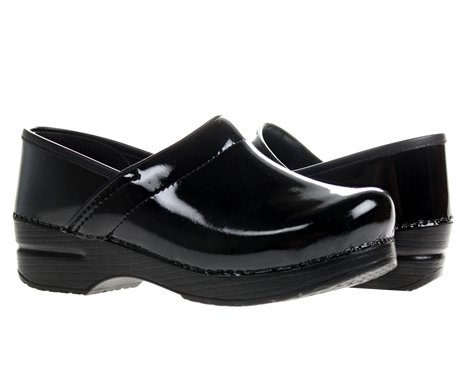 Dansko Women's Professional Patent Leather Clog,Black Patent,40 EU / 9.5-10 B(M) US