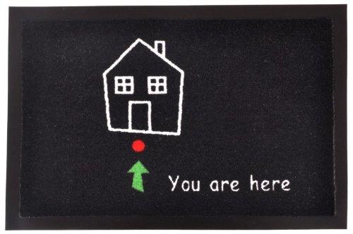 ZERBINO You Are Here '| Zerbino sporco Matte, 40 cm x 60 cm