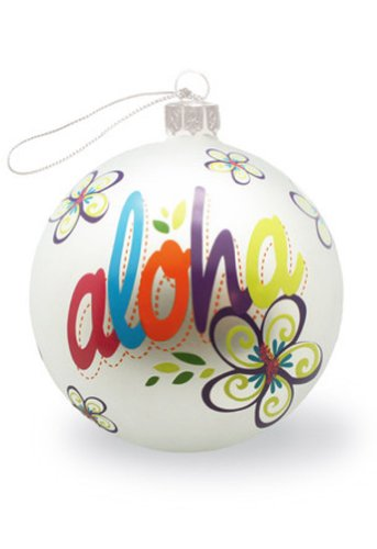Hawaiian Glass Christmas Ornament