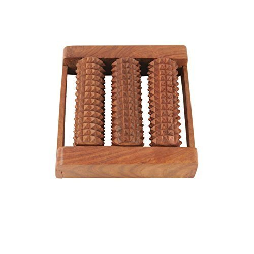 Online Quality Store Wooden Roller Foot Massager for Body Stress Acupressure Feet Care  available at amazon for Rs.174
