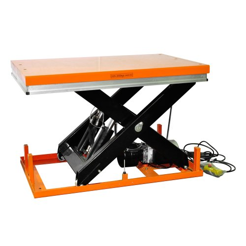 """Bolton Tools New Stationary Electric Powered Hydraulic Lift Table - 4400 Lb Of Capacity - 41.3"""" Max Height - Model Et2001"""