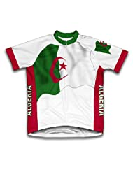 Algeria Flag Short Sleeve Cycling Jersey for Women