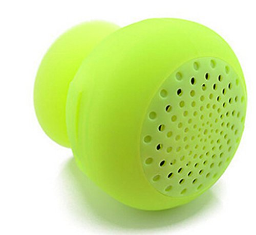 Wireless Bluetooth Shower Speaker/Mini Phone holder mount ,Hands-Free speaker phone for Showers, Pool, Boat, Car, Beach, & Outdoor Use ,Compatible with all Bluetooth devices (Firefly Green)