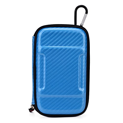 Atmos Zig-Zag Stealth Vape Universal Portable Travel Case Nuvur ™ W/Carabiner Hook [Electric Blue Hard Cover]
