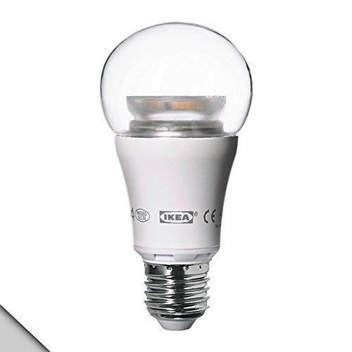 Ikea - Ledare Led Bulb E26, Dimmable, Globe Clear, 600 Lumens (X1)