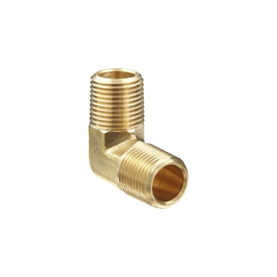 Anderson Metals Brass Pipe Fitting, 90 Degree Forged Elbow, 1/2 x 1/2 Male Pipe