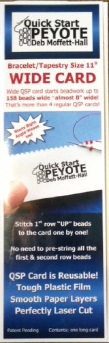 Quick Start Peyote Wide Card for Bracelets