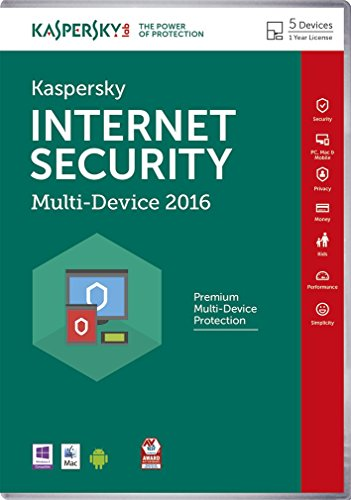 Kaspersky Internet Security 2016 Software, 5 Devices for PC