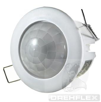 drehflex decken einbau bewegungsmelder 360 230v 1200w up led geeignet beleuchtung vszifme. Black Bedroom Furniture Sets. Home Design Ideas