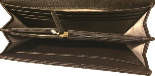 MICHAEL Michael KorsMichael Kors Fulton Flap Continental MK Signature PVC Brown Clutch