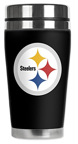 Mugzie® Brand 16-Ounce Travel Mug With Insulated Wetsuit Cover - Pittsburgh Steelers