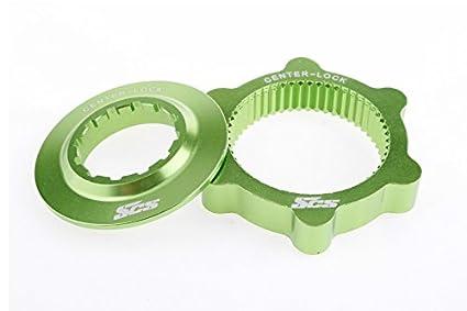 SCS-Montage-Centerlock-Bike-Disk-Brake-Rotor-Adapter-for-Shimano/1pair/46g/Green