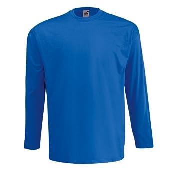 T-shirt à manches longues Fruit Of The Loom pour homme (S) (Bleu royal)