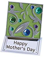 Green Gem Leaf Clip Magnet