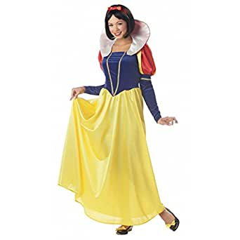 Classic Snow White Womens Costume Disney 7 Dwarfs Princess Storybook Adult