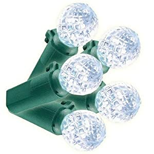 Phillips 60 LED Cool White Faceted Sphere Lights A8