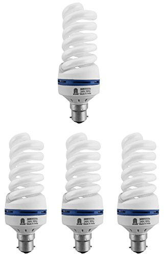 Ncore 30W B22 CFL Bulb (Cool Day Light, Pack of 4) Image