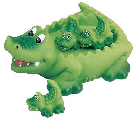 alligators family bath toy