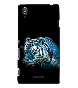 printtech Tiger Streaks Back Case Cover for Sony Xperia T3