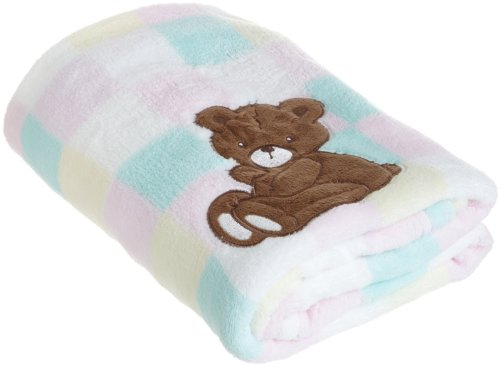 Sam Salem and Son Bear Baby Blanket, Pink