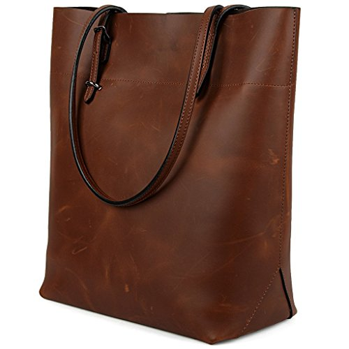 christmas-big-sale-yaluxe-womens-vintage-style-crazy-horse-leather-work-tote-shoulder-bag-upgraded-2